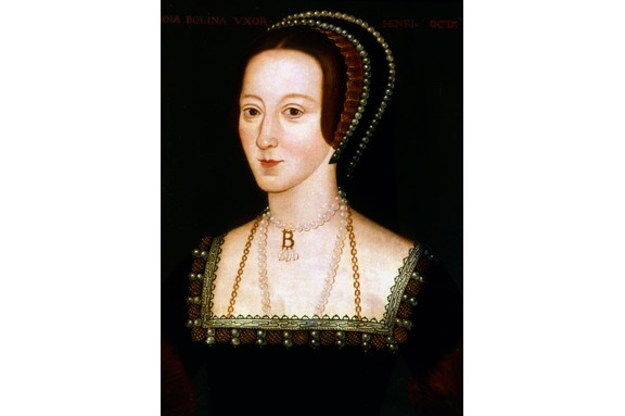 Written accounts describe Anne Boleyn as having dark, sparkling eyes – yet no undisputed portraits from her lifetime survive. The most familiar depictions of her are various representations of this portrait, in which she wears the famous B-pendant. (Ann Ronan Pictures/Print Collector/Getty Images)