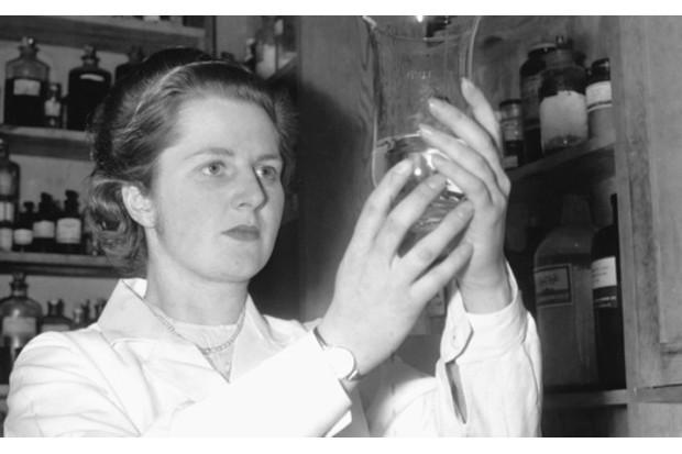 Margaret Thatcher at work as a research chemist, 1950. (Image by © Corbis)