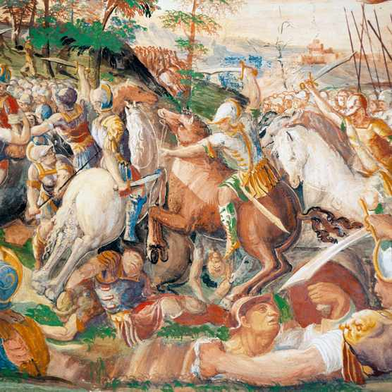 """A depiction of Hannibal at the battle of Trasimene, which is """"today remembered as one of the most stunning victories in military history"""". (Photo by DeAgostini/Getty Images)"""