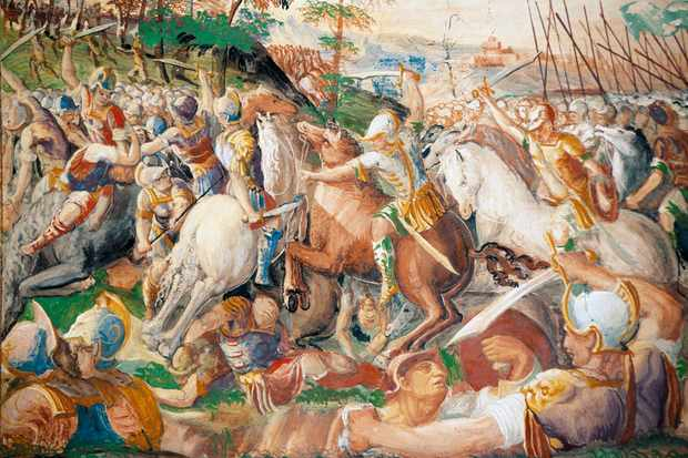"A depiction of Hannibal at the battle of Trasimene, which is ""today remembered as one of the most stunning victories in military history"". (Photo by DeAgostini/Getty Images)"