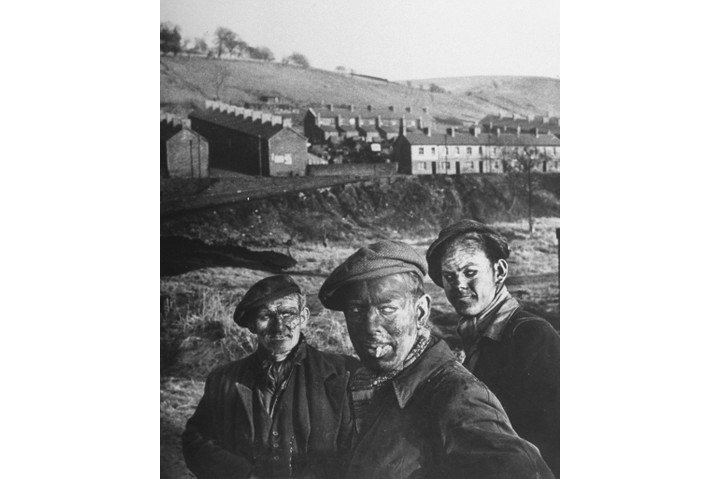Three coal miners. (Photo by W. Eugene Smith/The LIFE Picture Collection/Getty Images)
