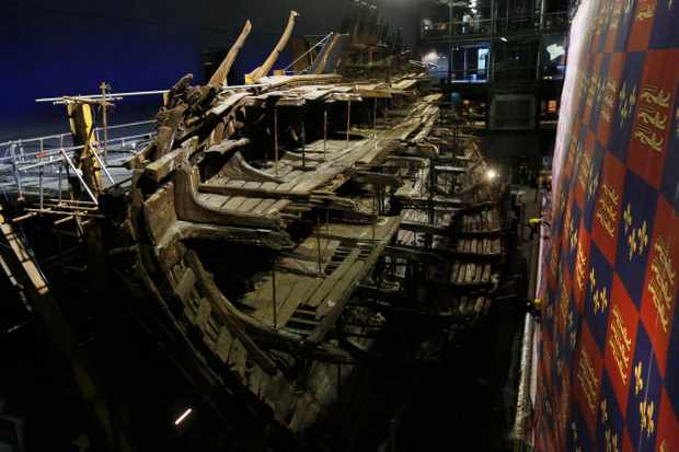 The 'Mary Rose' after its renovation. The museum dedicated to Henry VIII's famous warship opened to the public in June at a cost of £35m. (Photo by Olivia Harris/Getty Images)