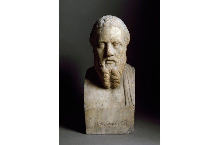 "Bust of Herodotus. ""Herodotus gives us access to someone's speech, their opinion, 2,500 years ago,"" says Tom Holland. (Leemage/Corbis via Getty Images)"