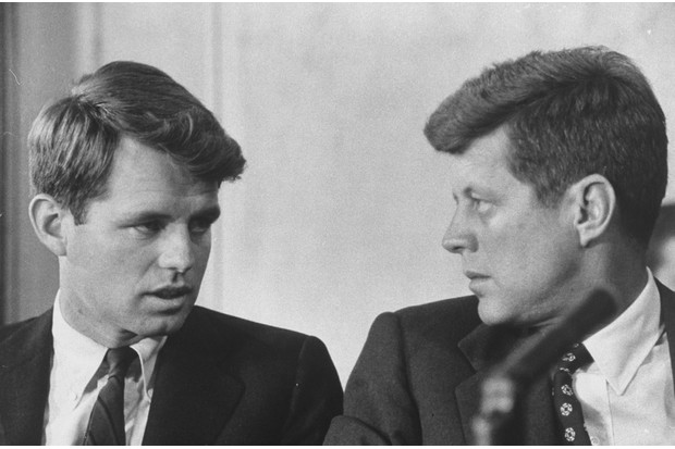 John F Kennedy and Robert Kennedy shared an exceptionally close fraternal relationship. (Photo by Ed Clark/The LIFE Picture Collection/Getty Images)