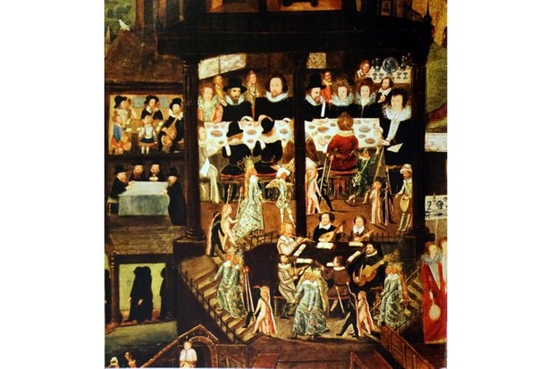 A painting depicting a 16th century wedding feast. (Universal History Archive/UIG via Getty Images)