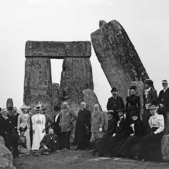 Tourists at Stonehenge. We have no better idea today than 200 years ago what the people who erected these sarsens truly believed. (Getty Images)