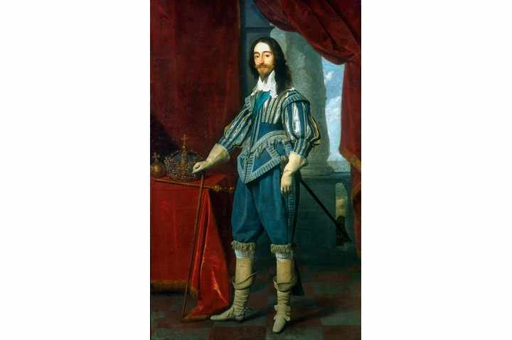 A portrait of Charles I.