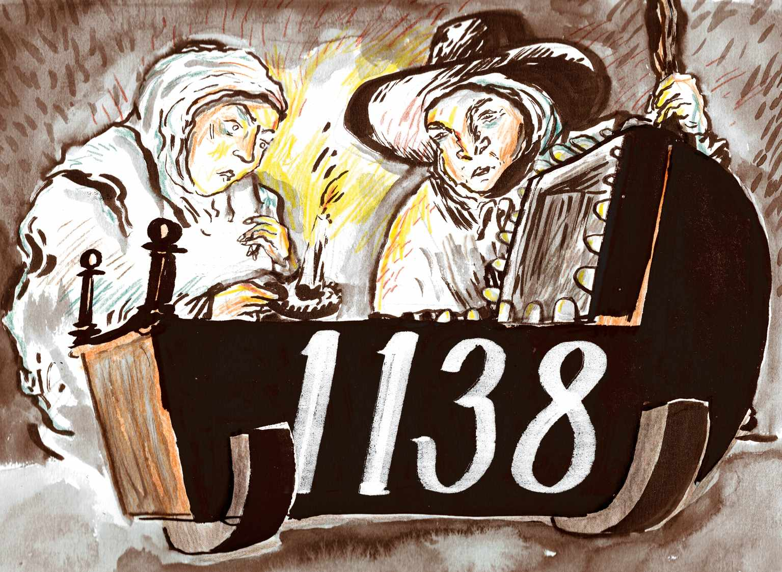 """1,138:The number of London children recordedas dying of """"teeth"""" in 1685. (Illustration: James Albon for BBC History Magazine)"""