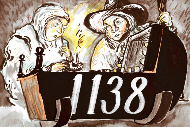 "1,138: The number of London children recorded as dying of ""teeth"" in 1685. (Illustration: James Albon for BBC History Magazine)"