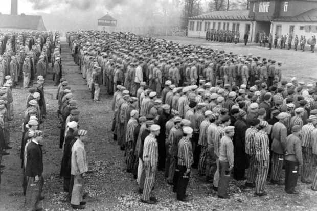 A scene from the 1963 film 'Naked Among Wolves', depicting a Nazi concentration camp