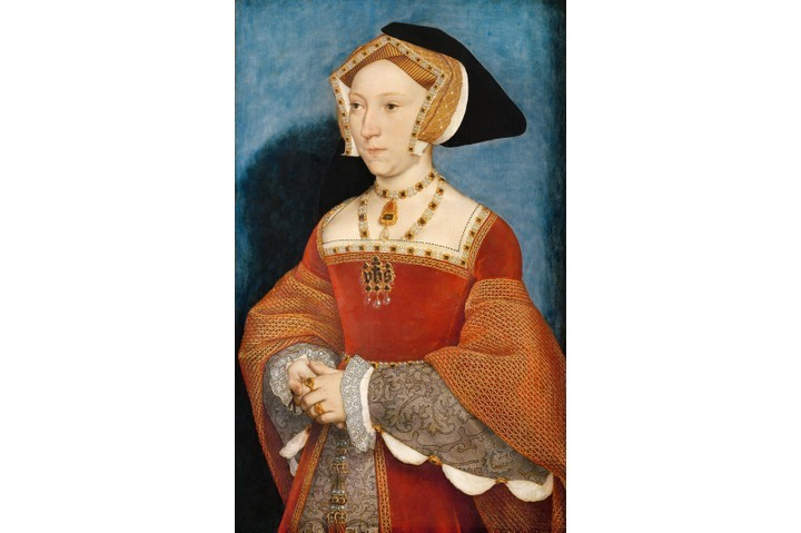 "A c1536 portrait of Jane Seymour by Hans Holbein the Younger. ""Jane's marriage to Henry VIII lasted less than 18 months, and yet she was witness to some of the most turbulent events of his reign,"" says Alison Weir. (Photo by PAINTING / Alamy Stock Photo)"