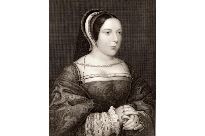 An engraving of Margaret Tudor