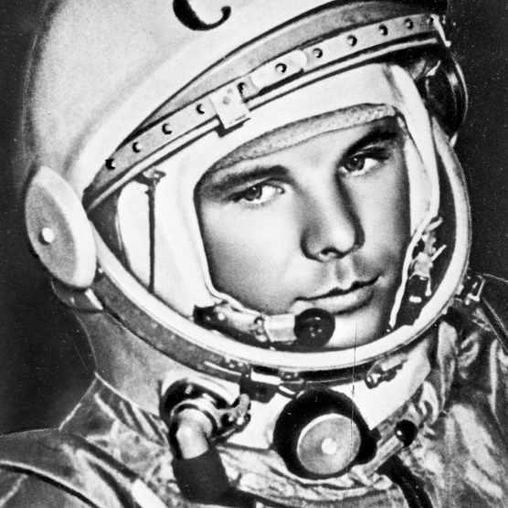 Yuri Gagarin, Russian cosmonaut, 1961. Artist: Anon