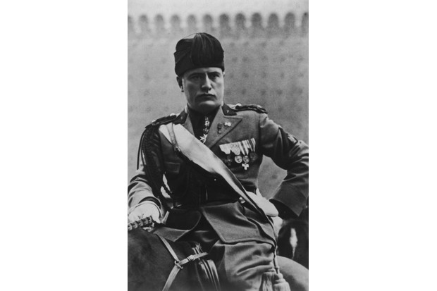 Benito Mussolini on horseback, c1930. (Photo by Hulton Archive/Getty Images)