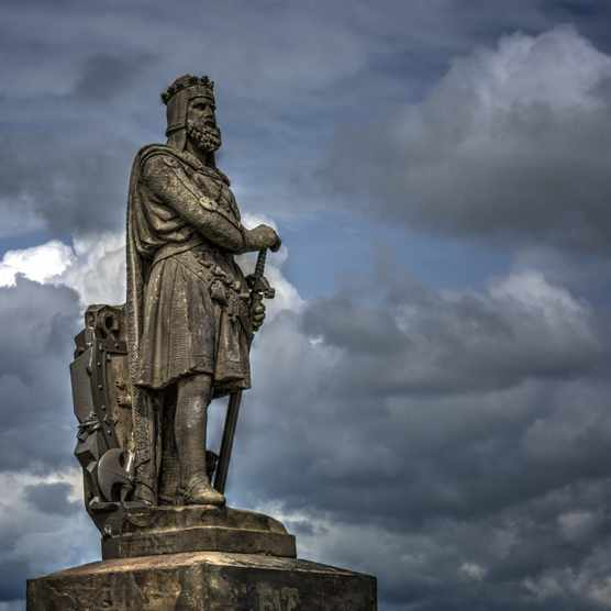 A statue of Robert the Bruce Statue at Stirling Castle, Scotland. (Dreamstime)