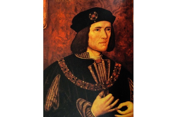 A portrait of Richard III.
