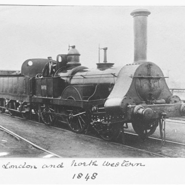 North Western Railway locomotive, 1848. (Photo by SSPL/Getty Images)