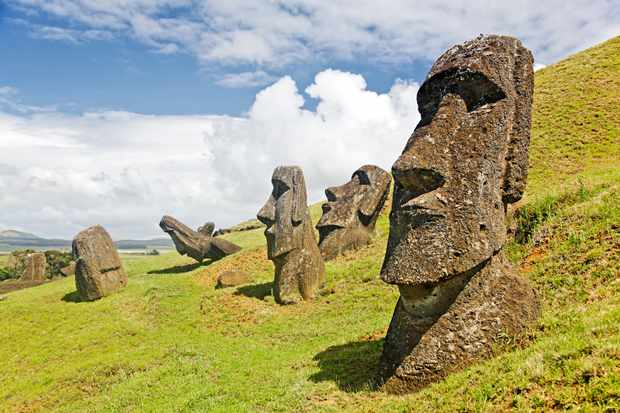 Moais in Rapa Nui National Park, Easter Island