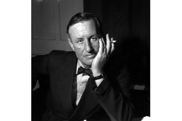 A portrait of Ian Lancaster Fleming, the creator of the character James Bond