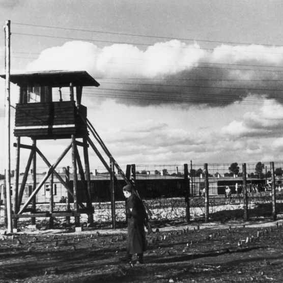 Prisoner of war camp Stalag Luft III. (Photo by Hulton Archive/Getty Images)