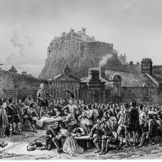 Scottish nobles gathering in the 17th century