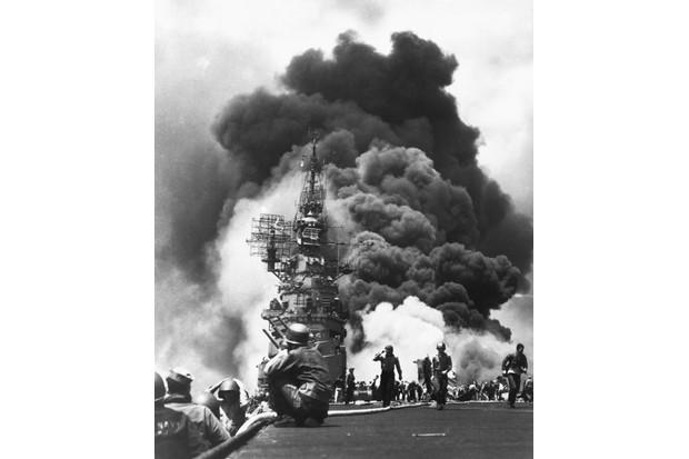 Kamikaze attack, 1945