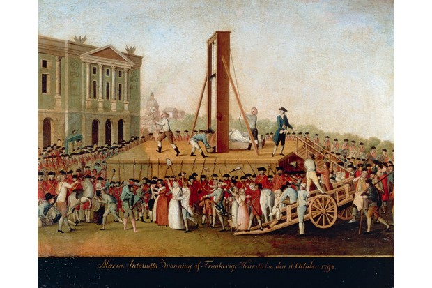 A late 18th-century painting depicting the execution of Marie Antoinette in 1793. (Photo by Fine Art Images/Heritage Images/Getty Images)