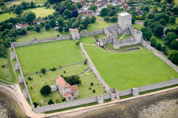 Portchester Castle in Hampshire was intended as a coastal defence against raiders. (Photo by Getty Images)