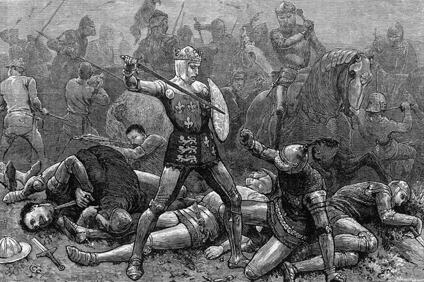 The battle of Agincourt. (Photo by Mansell/Mansell/The LIFE Picture Collection/Getty Images)