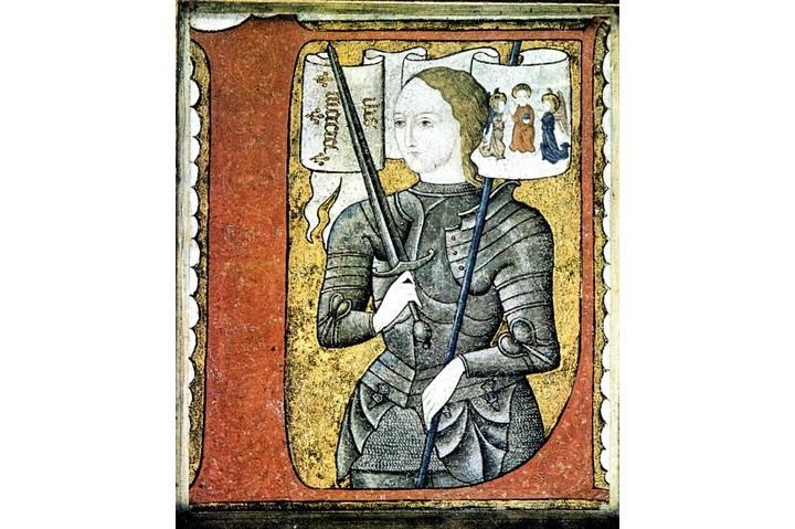 A portrait of Joan of Arc,