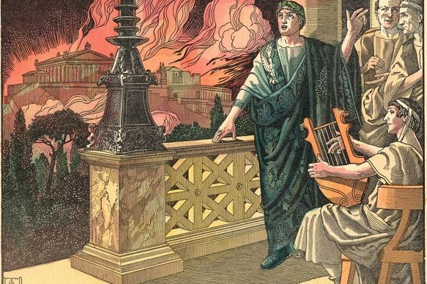 Emperor Nero and the fire in Rome