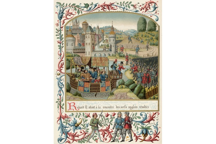 An illustration of the Peasants' Revolt