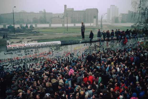 Berlin Wall in November 1989