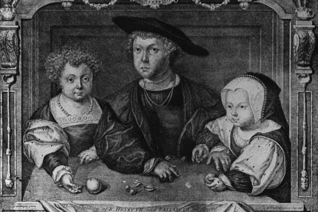 A portrait of the children of Henry VII (l to r): Prince Henry; Arthur, Prince of Wales and Princess Margaret, c1498. (Photo by Hulton Archive/Getty Images)