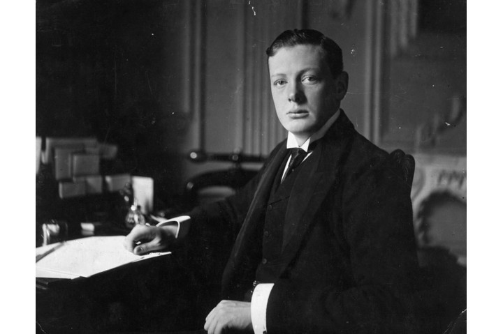 British statesman and writer Winston Churchill, aged 26. Photograph by Elliott & Fry. (Photo by Hulton Archive/Getty Images)