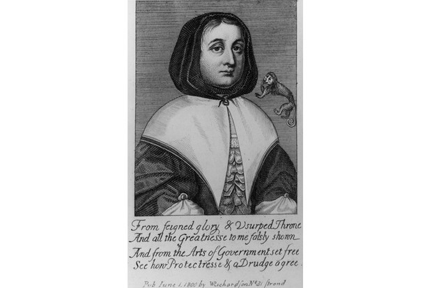 Elizabeth Cromwell, from an engraving published in 1800 by W Richardson. (Photo by Hulton Archive/Getty Images)