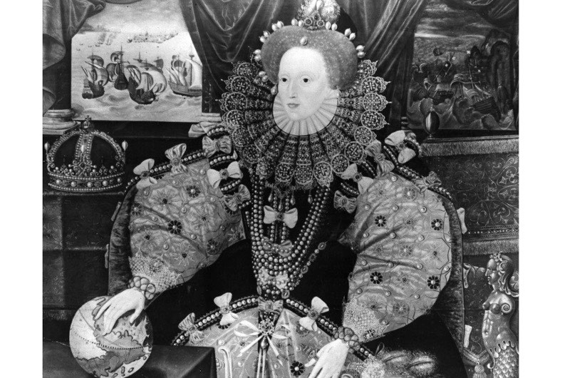 The Armada Portrait of Elizabeth I. (Photo by Topical Press Agency/Getty Images)