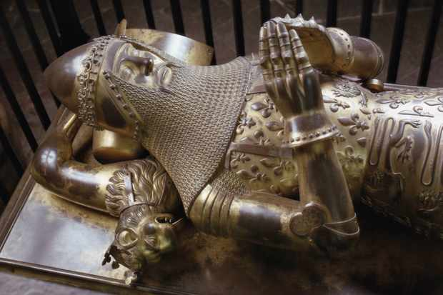 The bronze effigy on the tomb of Edward Plantagenet, known as the Black Prince, in the Trinity Chapel of Canterbury Cathedral, Kent. (Photo by RDImages/Epics/Getty Images)
