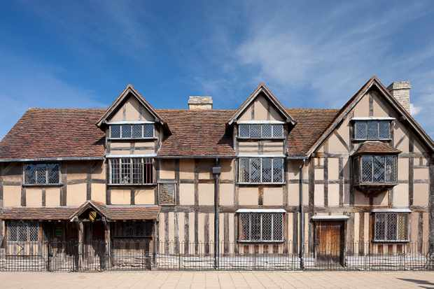 The front of Shakespeare's birthplace on Henley Street, Stratford-upon-Avon.