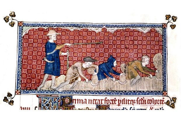 A scene from the Queen Mary Psalter (c1310-20)