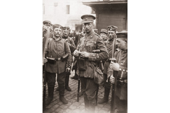 A British major pictured in German captivity