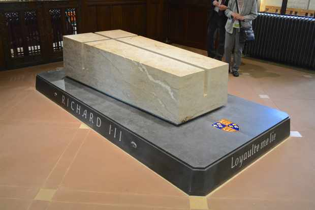 The tomb of King Richard III, who was reinterred at Leicester cathedral of Saint Martin following the discovery of his body in 2012. (Photo by Getty Images)