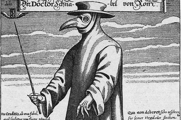 Why did 17th-century plague doctors wear peculiar beaked masks?