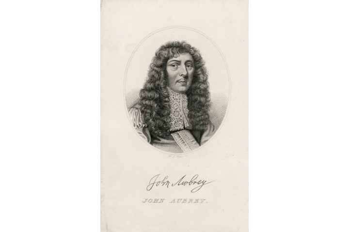 A portrait of the writer and antiquarian John Aubrey