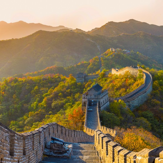 The stretch of the Great Wall at Mutianyu, China