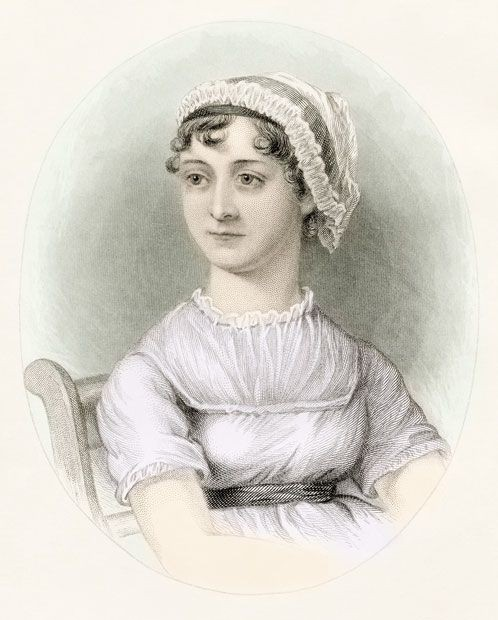 A portrait of Jane Austen. (Photo by: Universal History Archive/UIG via Getty Images)