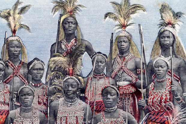 Female warriors from Benin