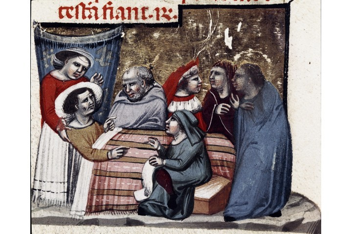 A miniature from the Codex Justinianus