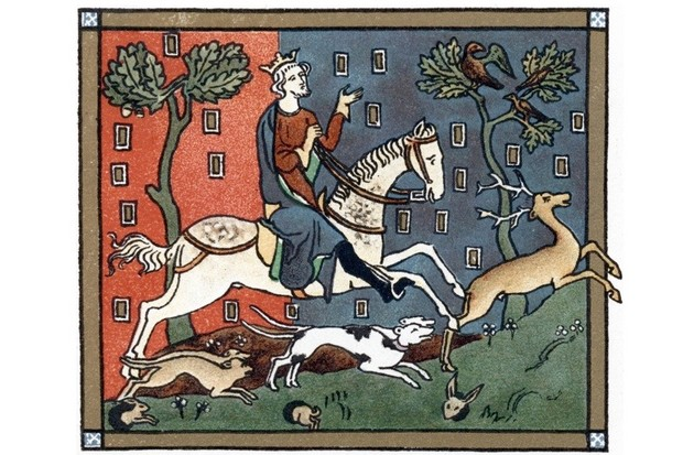 King John out hunting
