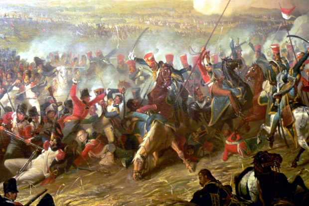 Denis Dighton's painting shows the defeat of Napoleon's Imperial Guard at Waterloo